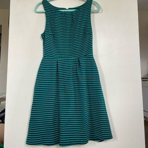 Women's striped skater dress